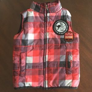 3/$15* COOGI Red Plaid Puffer Vest